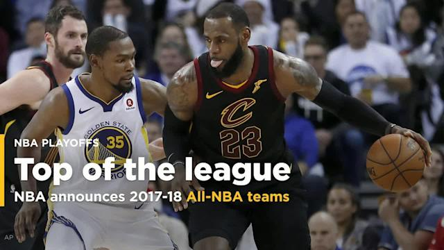 The NBA announced its all-league teams on Thursday, with MVP finalists LeBron James, James Harden and Anthony Davis all making the first team alongside Kevin Durant and Damian Lillard, who made his first-team debut.
