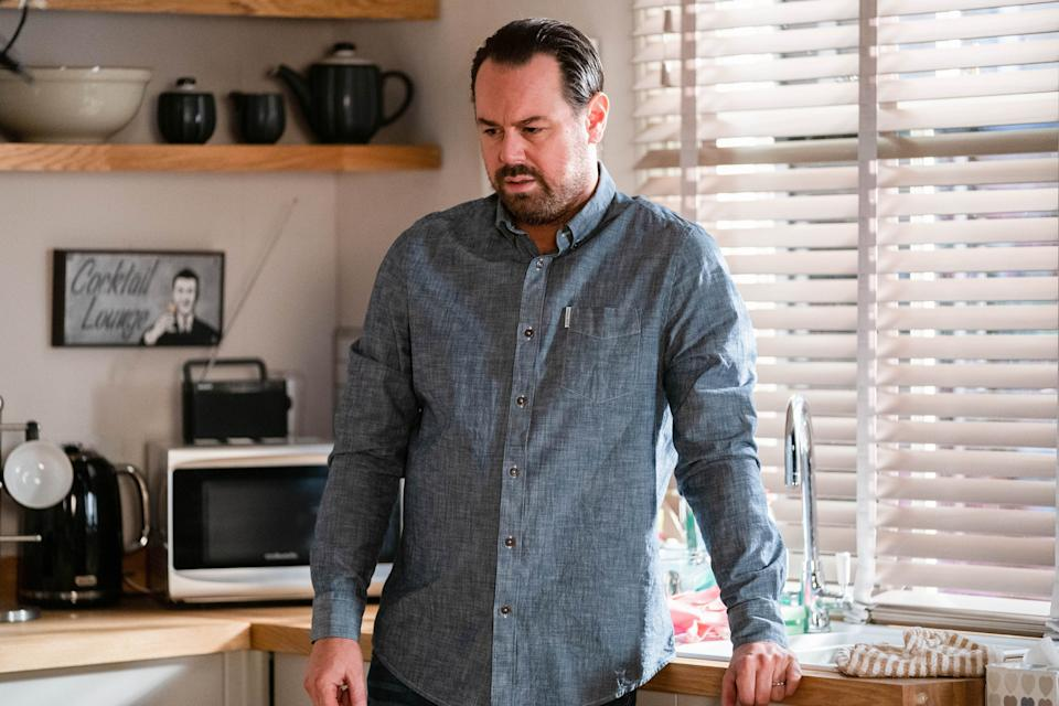 Mick Carter (DANNY DYER) in EastEnders. (BBC - Photographer: Jack Barnes)