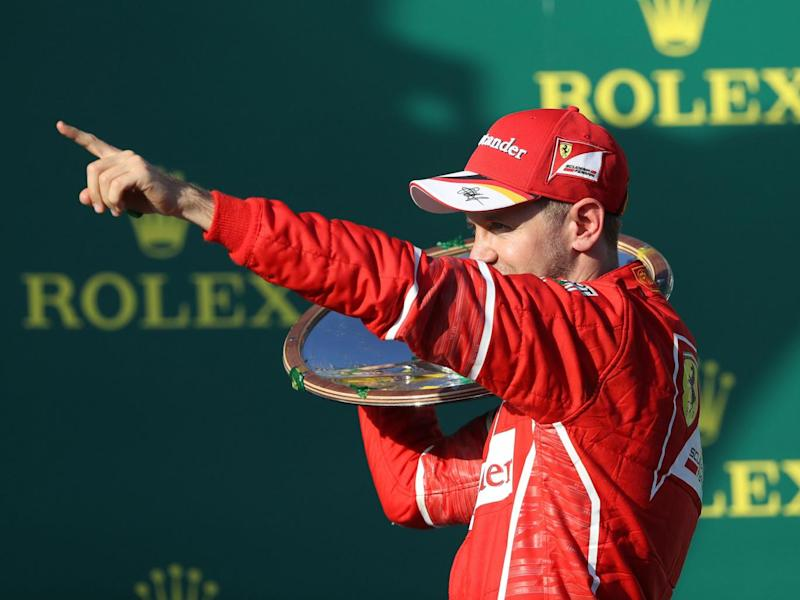 Vettel celebrated his victory (Getty)