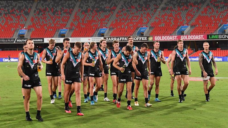Port Adelaide are likely to set up a quarantine hub in Queensland for the AFL season resumption