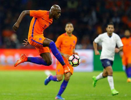 Netherlands' Bruno Martins Indi in action. REUTERS/Michael Kooren TPX IMAGES OF THE DAY
