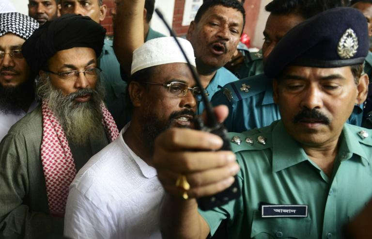 Bangladesh hanged three Islamist extremists including Harkat-ul Jihad al Islami (HUJI) leader Mufti Abdul Hannan (C) on Wednesday, after they were sentenced to death over a 2004 grenade attack on the British ambassador