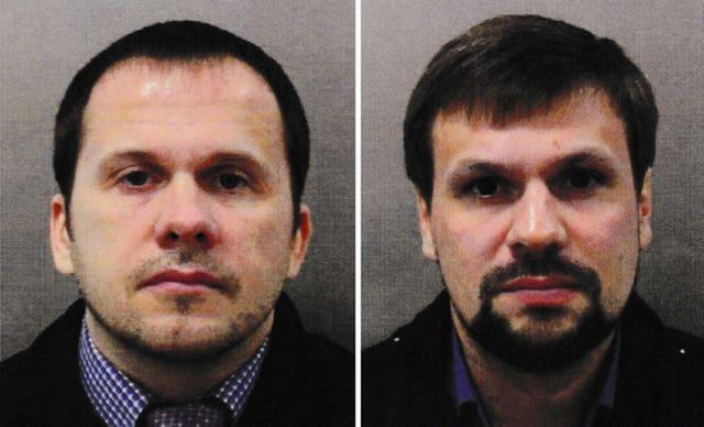 Alexander Petrov (left) and Ruslan Boshirov, who were named as suspects by police in 2018.