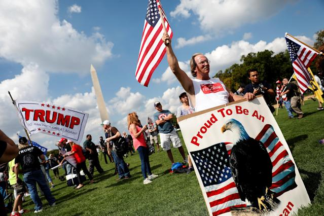 <p>Activists gather for the Mother of All Rallies demonstration on the National Mall in Washington, Sept. 16, 2017. (Photo: Aaron P. Bernstein/Reuters) </p>