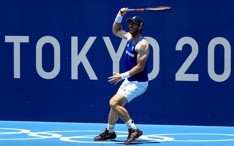 Andy Murray of Team Great Britain practices ahead of the Tokyo 2020 Olympic Games at the Ariake Tennis Park on July 20, 2021 in Tokyo, Japa - Getty Images AsiaPac