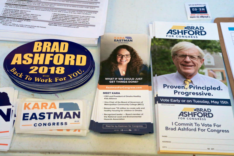 Election material for Kara Eastman and Brad Ashford