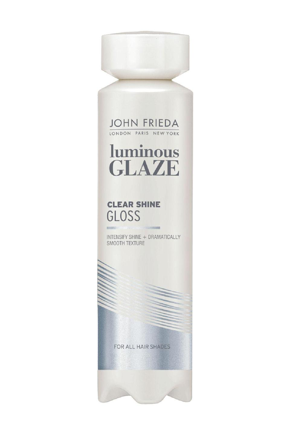 "<p><strong>John Frieda</strong></p><p>ulta.com</p><p><strong>$11.99</strong></p><p><a href=""https://go.redirectingat.com?id=74968X1596630&url=https%3A%2F%2Fwww.ulta.com%2Fluminous-color-glaze-clear-shine%3FproductId%3DxlsImpprod620050&sref=https%3A%2F%2Fwww.marieclaire.com%2Fbeauty%2Fhair%2Fg36039186%2Fbest-hair-gloss%2F"" rel=""nofollow noopener"" target=""_blank"" data-ylk=""slk:SHOP IT"" class=""link rapid-noclick-resp"">SHOP IT</a></p><p>You could use this at the end of a shower for enhanced shine, whether your hair is color-treated, balayaged, or au natural. The other option is working the gel into completely dry strands and leaving it on twenty minutes. The effect? Luminous. </p>"