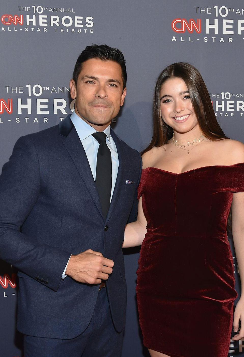 """<p><strong>Children</strong>: Michael Joseph Consuelos (23), Lola Consuelos (18), Joaquin Antonio Consuelos (17)</p><p>At 49, Consuelos is still one <a href=""""https://www.oprahmag.com/entertainment/a31470293/kelly-ripa-mark-consuelos-shirtless-pool-photo/"""" rel=""""nofollow noopener"""" target=""""_blank"""" data-ylk=""""slk:hot and steamy dad"""" class=""""link rapid-noclick-resp"""">hot and steamy dad</a> of three, and ever the <a href=""""https://www.oprahmag.com/beauty/hair/a32380433/kelly-ripa-gray-hair-roots/"""" rel=""""nofollow noopener"""" target=""""_blank"""" data-ylk=""""slk:supportive husband to Kelly Ripa"""" class=""""link rapid-noclick-resp"""">supportive husband to Kelly Ripa</a>.<br></p>"""