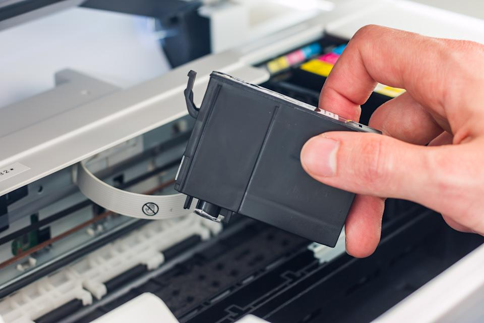 Third party printer cartridge in the hand