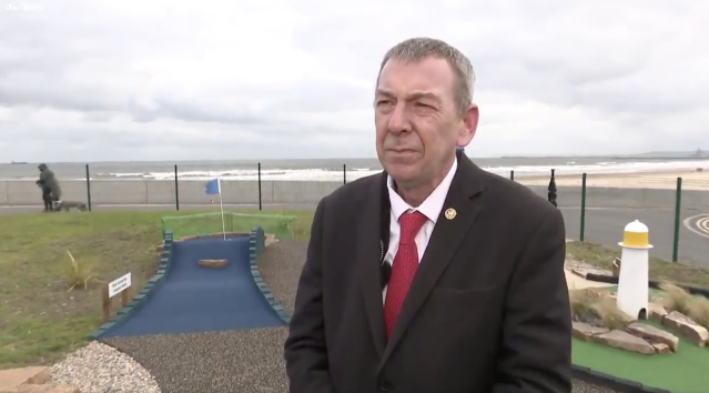 Mike Hill told ITV News a public vote is not a second referendum. (ITV News Tyne Tees)