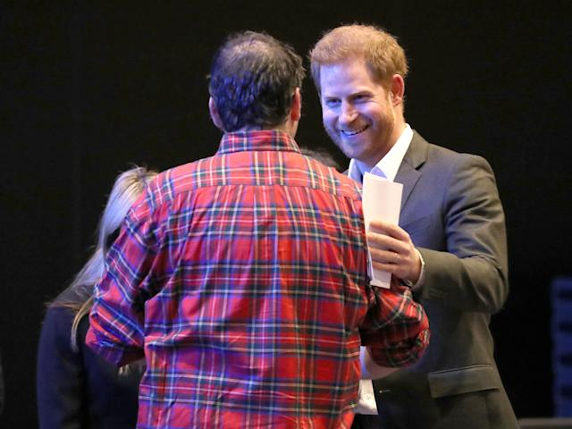 The duke asked people to just call him Harry at his summit. (PA Images)