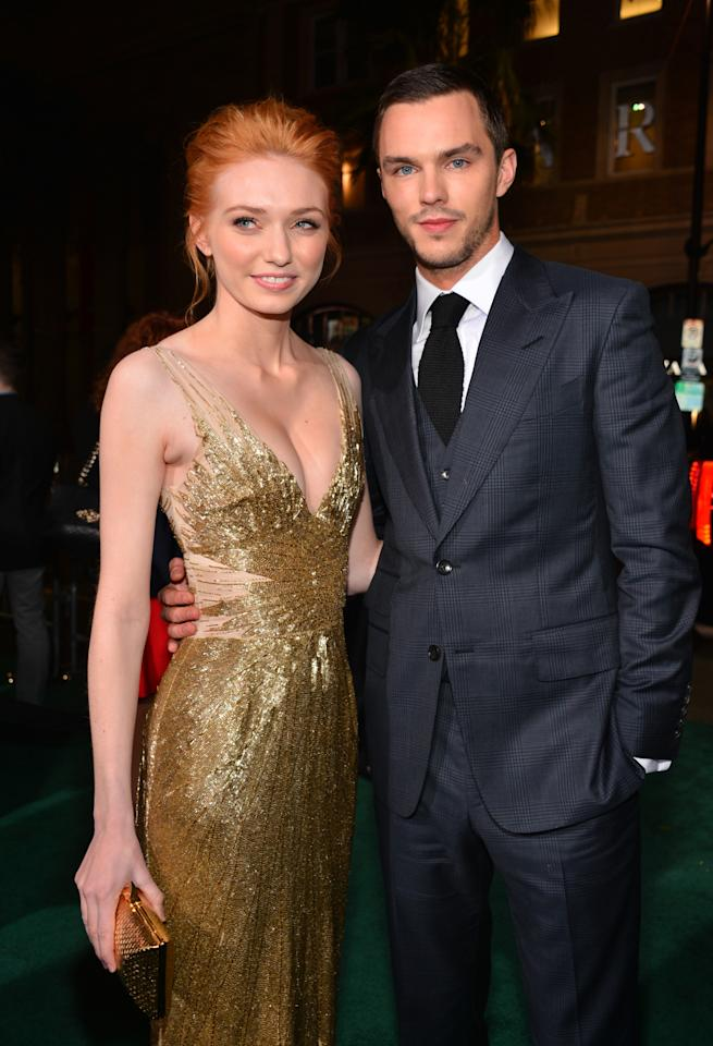 "HOLLYWOOD, CA - FEBRUARY 26:  Actors Eleanor Tomlinson (L) and Nicholas Hoult attend the premiere of New Line Cinema's ""Jack The Giant Slayer"" at TCL Chinese Theatre on February 26, 2013 in Hollywood, California.  (Photo by Alberto E. Rodriguez/Getty Images)"