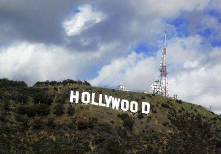File photo of a view of the Hollywood sign in the Hollywood Hills