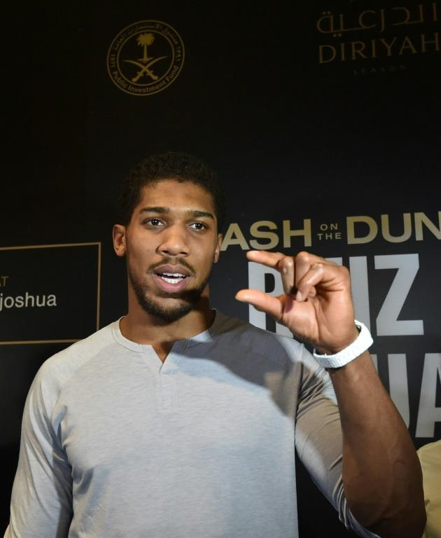 'I was this close last time,' said Anthony Joshua (AFP Photo/Fayez Nureldine)