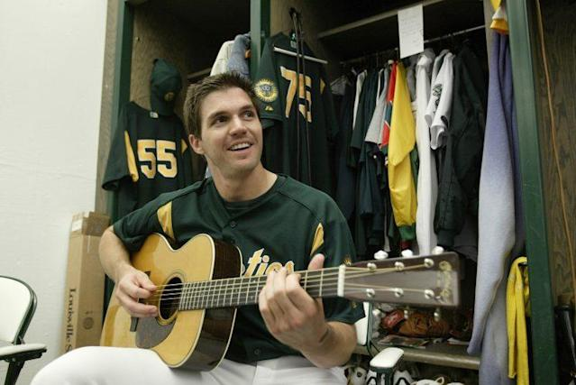 Barry Zito has been playing guitar for his entire baseball career. (Getty Images)