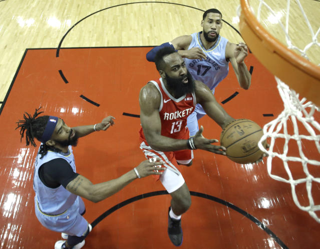 James Harden is playing at another level right now. (AP)