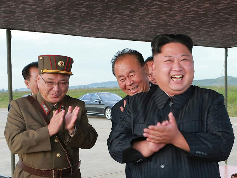 Mr Kim's regime claims it has the capacity to hit the United States with a missile: AP