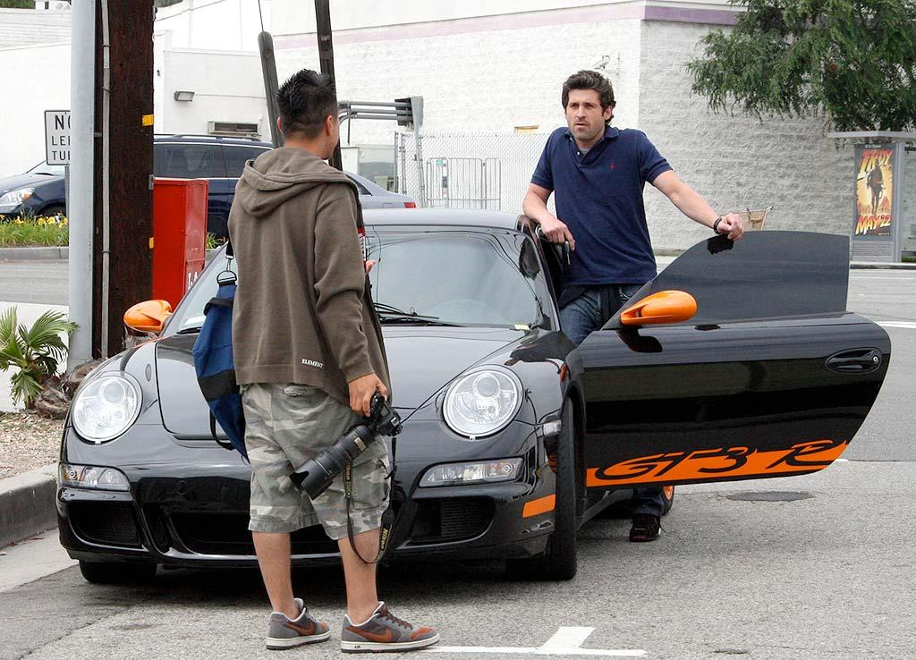 "Patrick Dempsey is undoubtedly a heartthrob, but his custom Porsche GT really gets our blood flowing. WCP/<a href=""http://www.x17online.com"" target=""new"">X17 Online</a> - May 6, 2008"