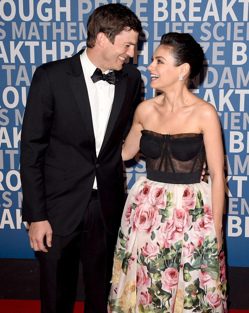 """<p>The former <i>That '70s Show</i> costars and real-life couple celebrate both holidays, but are opting out of presents on Christmas for the time being, Kunis revealed to <a href=""""https://www.etonline.com/mila-kunis-post-baby-body-new-christmas-traditions-juggling-2-kids-we-needed-help-exclusive-88513"""" rel=""""nofollow noopener"""" target=""""_blank"""" data-ylk=""""slk:Entertainment Tonight"""" class=""""link rapid-noclick-resp""""><i>Entertainment Tonight </i></a>in 2017. </p> <p>""""So far, our tradition is no presents for the kids,"""" the actress said. """"We're instituting it this year because when the kids are [younger than] 1, it doesn't really matter."""" </p> <p>She shared that while she was raised Jewish and Kutcher Christian, she began celebrating Christmas when she moved to America. """"Coming to America is when you realize Christmas has a magical quality to it. In Russia, back in the day, it was a very religious holiday, so you don't celebrate Christmas if you're not Christian and if you're not at Mass. So I, being Jewish, was like, 'Christmas is not for you,' """" the <i>Bad Moms</i> star shared. </p> <p>After moving here, her family felt like the holiday was more inclusive, and they """"literally bought a Christmas tree,"""" she revealed, adding, """"So as far as tradition goes, my family's big on any excuse to get the family together and get drunk.""""</p>"""