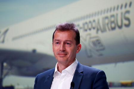 FILE PHOTO: Guillaume Faury, President of Airbus Commercial Aircraft, poses during Airbus's annual press conference on Full-Year 2018 results in Blagnac, near Toulouse, France, February 14, 2019. REUTERS/Regis Duvignau