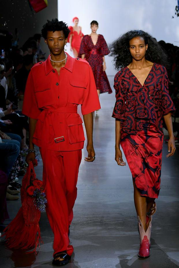 Looks from the Prabal Gurung Spring 2020 collection. Photo: Mike Coppola/Getty Images for NYFW: The Shows