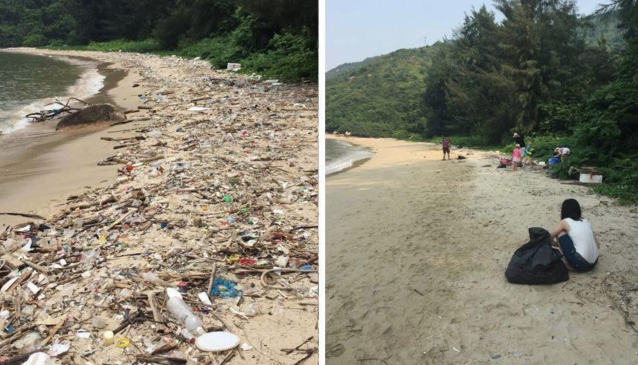 "The viral ""Trashtag Challenge"" has inspired people to help clean up litter. (Photo: Twitter)"