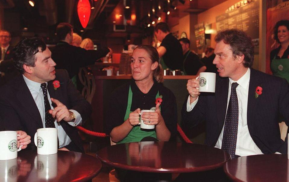 <p>Starbucks became a prime example for British Prime Minister Tony Blair and Chancellor Gordon Brown's initiative to offer tax breaks to encourage employee share ownership in businesses, as the company was the first to offer stock options to part-time employees in 1991. </p>