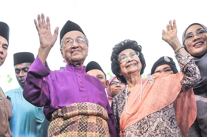 Dr SIti Hasmah and Dr Mahathir have been married for 62 years. — Picture by Shafwan Zaidon