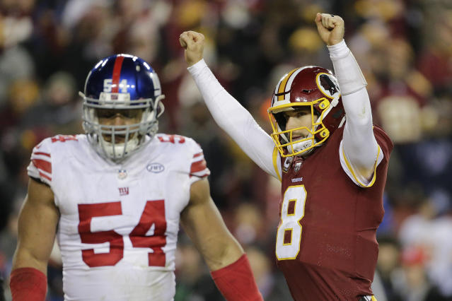 Kirk Cousins was happy Thursday night. He was one of the only ones. (AP)