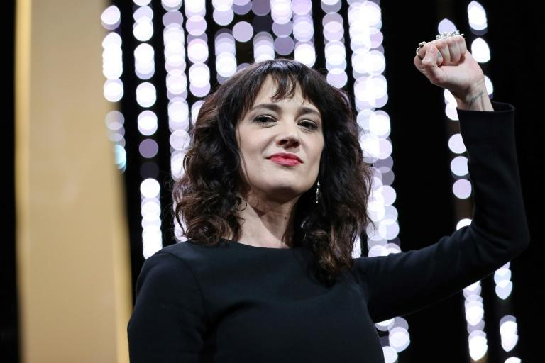 Italian actress Asia Argento -- shown at the closing ceremony of the 71st edition of the Cannes Film Festival -- has said she was 21 when Weinstein allegedly raped her