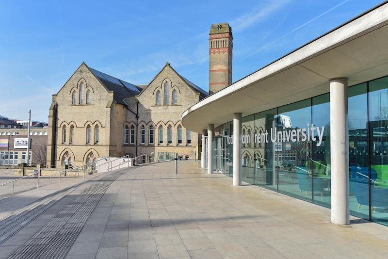 Nottingham, England - April 03, 2018: Nottingham Trent University is a public research university in Nottingham, England. It was founded as a new university in 1992 from Trent Polytechnic.