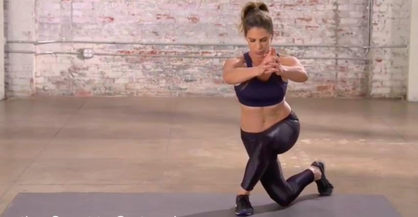 Stay low to the gruond to make this move most effective. (Photo: Courtesy of Jillian Michaels