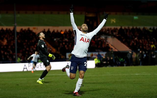 "Lucas Moura has claimed that Tottenham Hotspur have the talent to win the Champions League this season. Speaking after making his full debut for the club, following his £25million move from Paris Saint-Germain the January transfer window, Lucas said he had joined Spurs to ""make history"". The 25-year-old scored his first Spurs goal on his full debut, and produced an impressive performance, in the 2-2 draw away to League One Rochdale in the FA Cup on Sunday. Speaking afterwards Lucas said that performances such as in another 2-2 draw, a few days earlier away to Juventus in the first leg of Spurs last-16 Champions League tie, meant they have the ""capacity"" to win the competition. ""Why not? The Champions League is the most difficult cup but I think we have the capacity to win it,"" Lucas said. ""If you always think in positives, always work hard. I think we did a big game against Juventus away. I am so happy with my new team."" Lucas claimed that the Spurs side he has recently joined compares favourably with PSG. ""I am 25 years old but I think I won a lot of experience with PSG and I think I can help Tottenham,"" the Brazilian winger said. ""I think we have a lot of quality and a great structure and I think we can arrive at the end of the season with a trophy. ""It's always important to win. Every player wants to win trophies, to make history and I am here to make history with my new friends, my new team-mates. I believe that because we have a lot of quality, a great structure – I am really impressed – and I think we can dream with the Champions League."" Spotland was the venue for Lucas' first start of a difficult season for him while he had to be sold by PSG in January to help them meet the requirements of Uefa's Financial Fair Play regulations following their world record signing of his friend, Neymar, last summer. Lucas Moura trains with PSG teammates Credit: REUTERS Lucas made just six substitute appearances, and played just 76 minutes of first-team football, for PSG and spoke of his frustration at not playing. ""It's difficult to explain, I'm so happy,"" he said of the move to Spurs and making his first start. ""Since August I have not started a game. Now I start and I'm so happy. This is my new team, my new friends. I want to say thanks to God because I'm very happy. ""It's too difficult for a player when we don't play. We want always to be on the pitch, to play. In this time I worked very hard, I stayed always positive. I worked and I wait for my new opportunity today and I think I played a good game and I am so happy for that."""