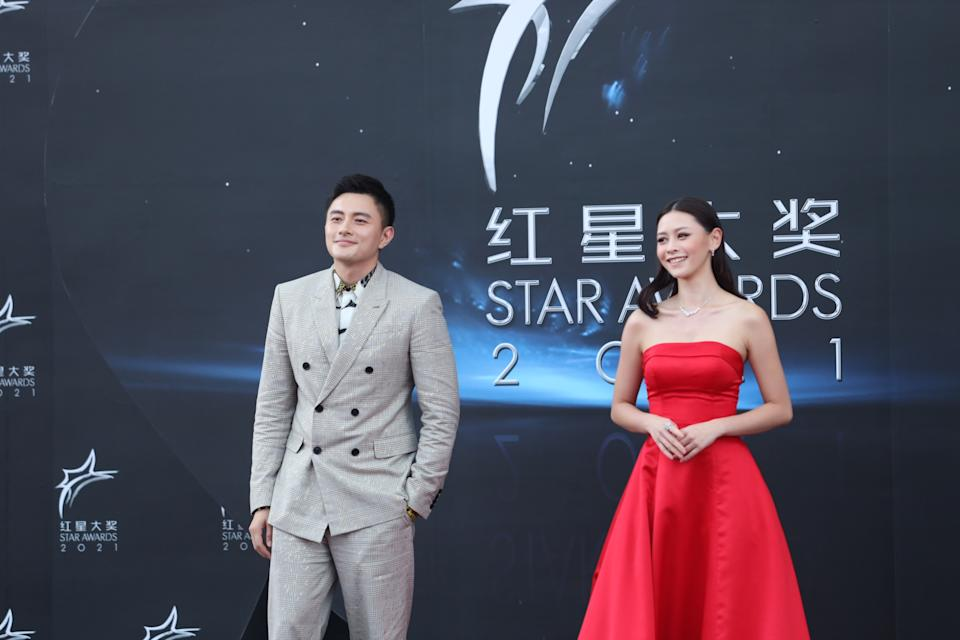 Shane Pow and  at Star Awards held at Changi Airport on 18 April 2021. (Photo: Mediacorp)