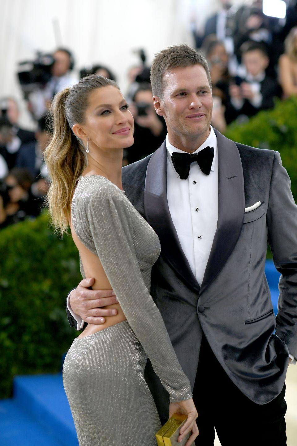 """<p>The model and quarterback met through a mutual friend who decided to play matchmaker.</p><p>""""This friend told me he knew a girl version of me,"""" the NFL player told <a href=""""http://men.style.com/details/features/landing?id=content_10457"""" rel=""""nofollow noopener"""" target=""""_blank"""" data-ylk=""""slk:Details back in 2009"""" class=""""link rapid-noclick-resp""""><em>Details</em> back in 2009</a>. </p><p>The sparks that flew were mutual. """"I knew Tom was the one straightaway. I could see it in his eyes that he was a man with integrity who believes in the same things I do,"""" Bündchen told <a href=""""http://www.vogue.co.uk/article/gisele-bundchen-british-vogue-cover-march-2015"""" rel=""""nofollow noopener"""" target=""""_blank"""" data-ylk=""""slk:Vogue"""" class=""""link rapid-noclick-resp""""><em>Vogue</em></a>.</p>"""