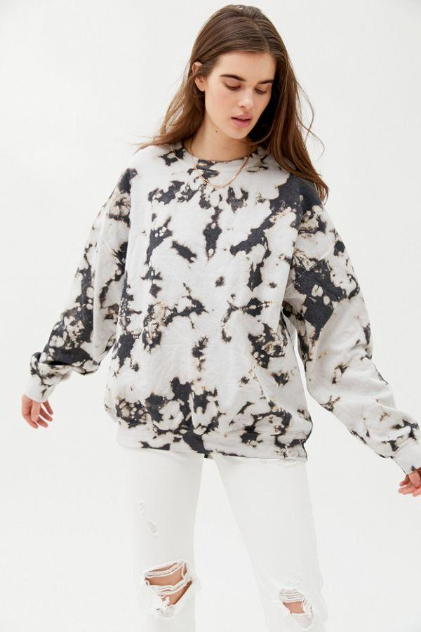 Urban Renewal Recycled Monochrome Tie-Dye Crew Neck Sweatshirt