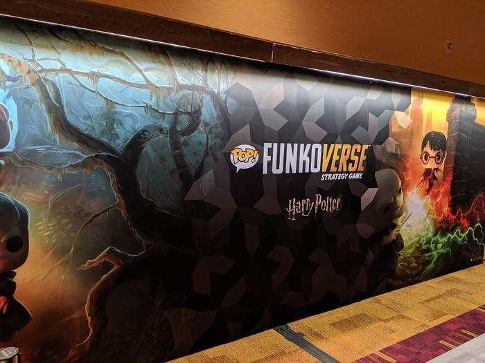Funkoverse advertising poster featuring Harry Potter POP figurine