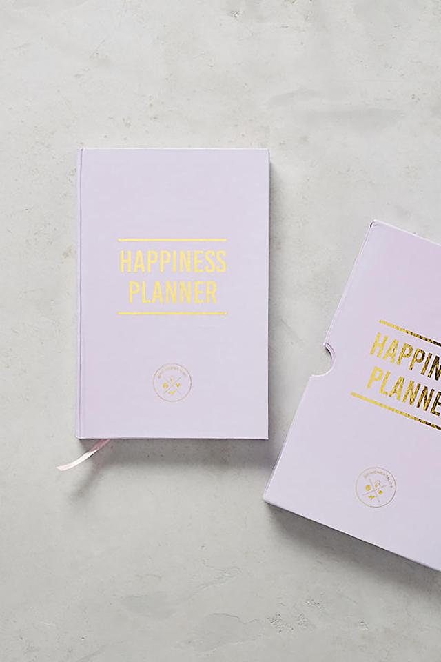 "<p><strong>BUY NOW: </strong><em>$30, <a rel=""nofollow"" href=""https://www.anthropologie.com/shop/the-happiness-100-day-planner"">anthropologie.com</a></em><strong> </strong></p><p>Inspire 100 days of happiness with this journal-it's filled with 100 pages to help inspire daily reflection and goal-setting. </p>"