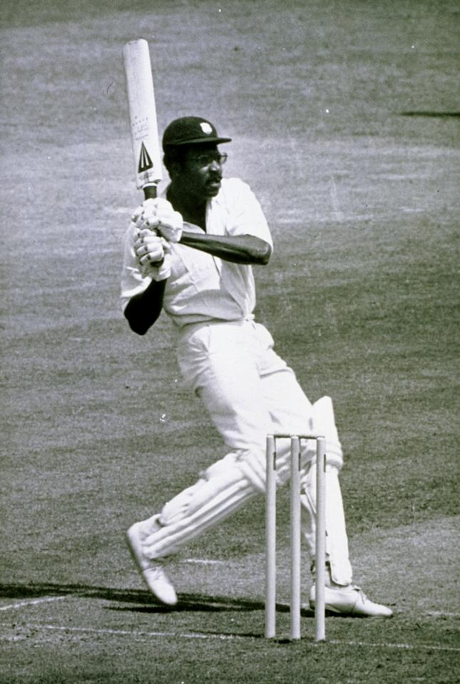 21 Jun 1975:  West Indies captain Clive Lloyd on his way to a century during the World Cup Final against Australia at Lords in London. West Indies won by 17 runs. \ Mandatory Credit: Allsport Hulton/Archive
