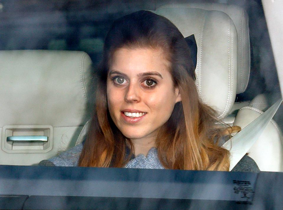 LONDON, UNITED KINGDOM - DECEMBER 18: (EMBARGOED FOR PUBLICATION IN UK NEWSPAPERS UNTIL 24 HOURS AFTER CREATE DATE AND TIME) Princess Beatrice attends a Christmas lunch for members of the Royal Family hosted by Queen Elizabeth II at Buckingham Palace on December 18, 2019 in London, England. (Photo by Max Mumby/Indigo/Getty Images)