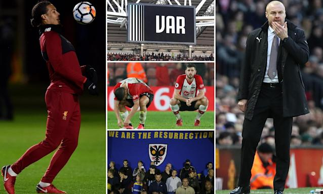 Virgil van Dijk is set to make his Liverpool debut, the FA Cup's first video assistant referee will feature, Southampton face a tough trip to Fulham, Wimbledon fans are off to Wembley and Burnley manager Sean Dyche.