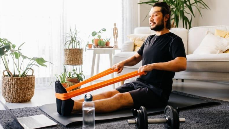 Resistance bands can be used for a lot of different exercises.