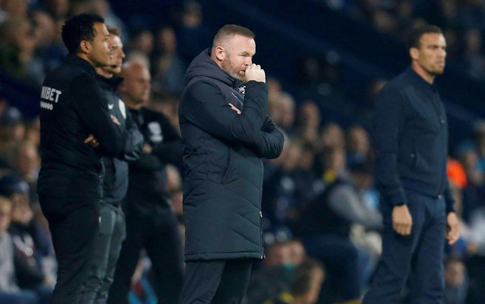Derby County manager Wayne Rooney. - Action Images