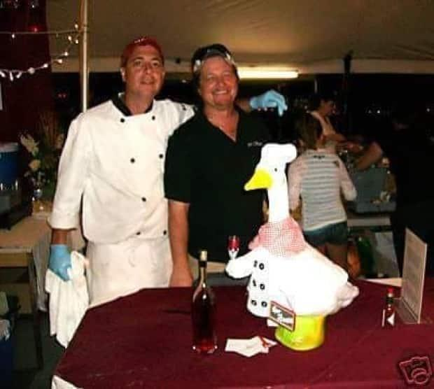 This is the goose Sherman made for Per Bacco Ristorante, a restaurant that used to be on Windsor's Ottawa Street.