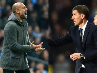 Pep Guardiola's Manchester City are chasing a domestic treble while Javi Gracia's men are hunting for a Europa League spot. AFP