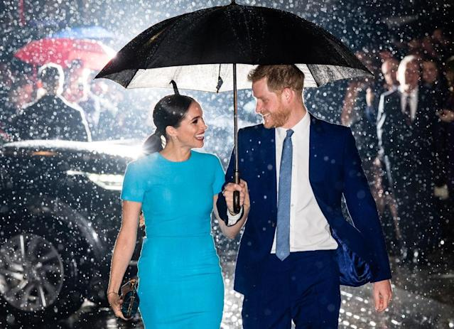 Fans couldn't get enough of this stunning image of the Duke and Duchess of Sussex. (Getty Images)