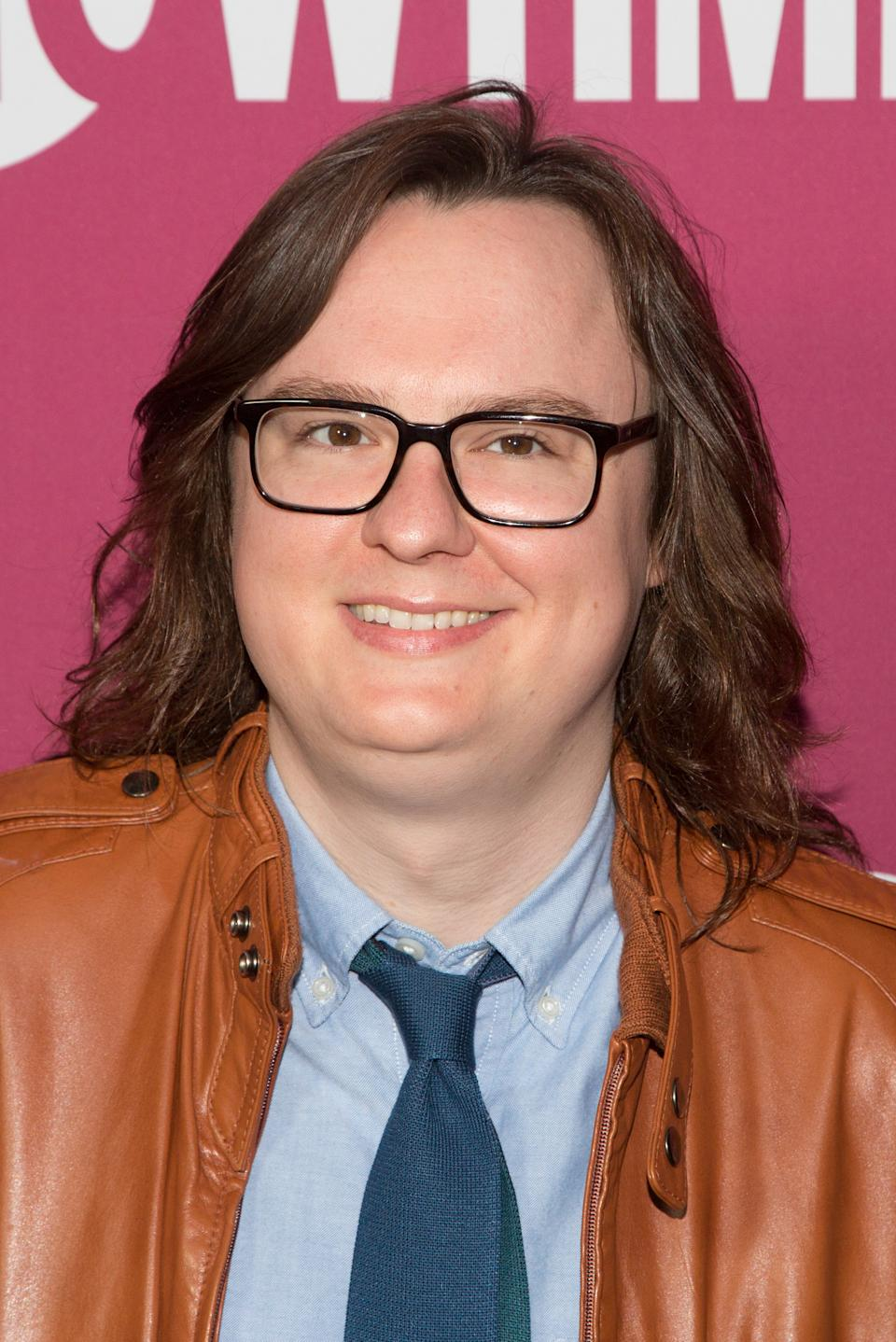 "LOS ANGELES, CA - MAY 07:  Clark Duke arrives for the premiere of Showtime's ""I'm Dying Up Here"" Season 2 at Good Times at Davey Wayne's on May 7, 2018 in Los Angeles, California.  (Photo by Gabriel Olsen/FilmMagic)"