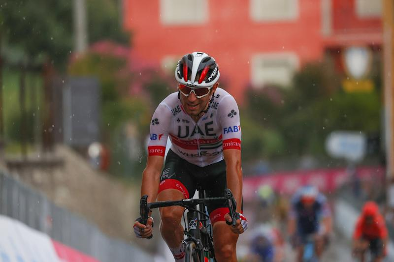 A dejected Diego Ulissi (UAE Team Emirates) had to settle for second place at the 2020 Gran Piemonte