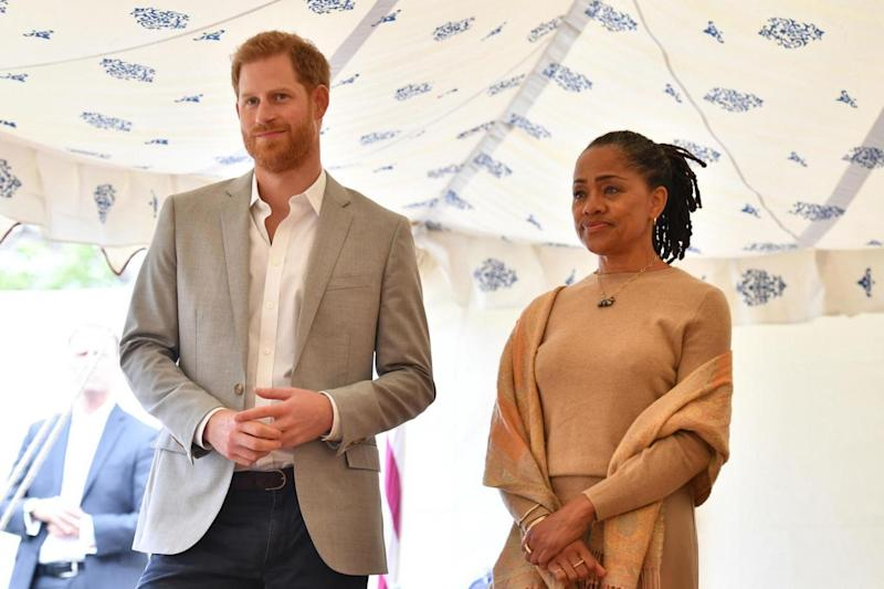 The Duke of Sussex and Meghan Markle's mother, Doria Ragland (PA Wire/PA Images)
