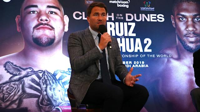 "Promoter Eddie Hearn says ""there isn't any doubt"" that Andy Ruiz Jr will fight Anthony Joshua in Riyadh, despite what the Mexican has said."